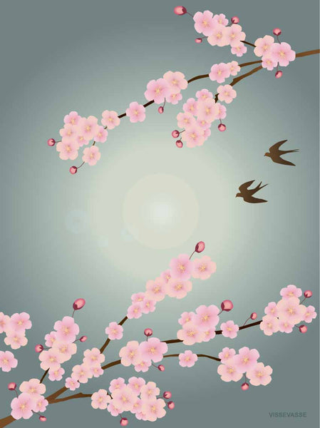 Sakura poster from Vissevasse with cherry blossoms