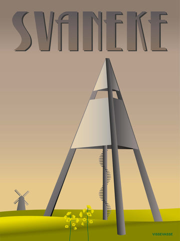 SVANEKE Water tower - poster