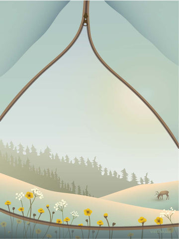 TENT WITH A VIEW - poster