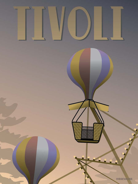 Tivoli poster with the ferris wheel from ViSSEVASSE
