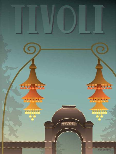 Tivoli poster from ViSSEVASSE with the entrance