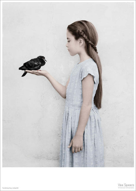Girl with a bird poster from Vee Speers