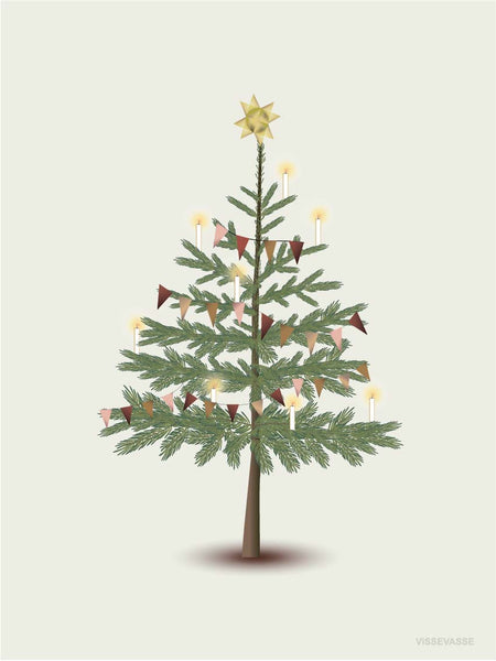 Poster with Christmas tree from ViSSEVASSE