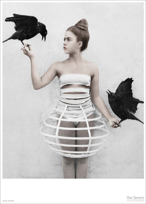 Girl with crows poster from Vee Speers