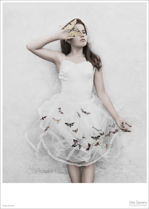 Girl with butterflies poster from Vee Speers