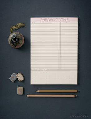 One day at a time notepad from ViSSEVASSE