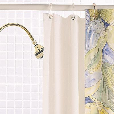 Sleep Safe White Mold Proof Anti Microbial Shower Curtain