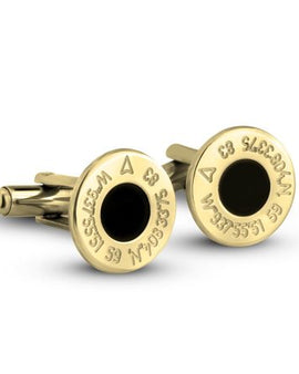 Personalised Cufflinks 24k Gold Plated