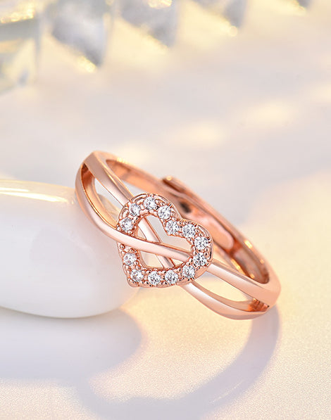 18k Gold Plated Heart Shaped Ring