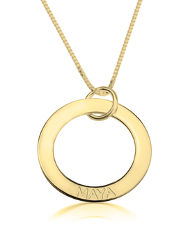 Engraved Mother Necklace - 24k Gold Plated