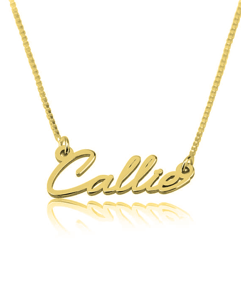 Dainty Name Necklace - 24k Gold Plated