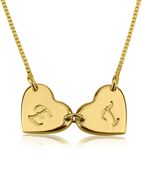 Linked Heart Necklace - 24k Gold Plated