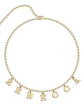 Choker Name Necklace 24k Gold Plated