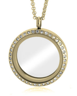 Gold Floating Locket