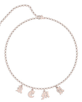 Choker Name Necklace Rose Gold Plated