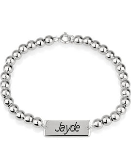 Bar Bead Bracelet Sterling Silver