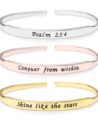 Inspirational Bangle - 24k Gold Plated