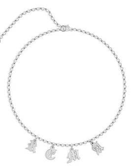 Choker Name Necklace Sterling Silver