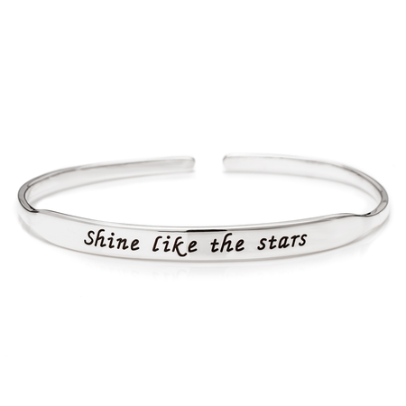 Inspirational Bangle - Sterling Silver