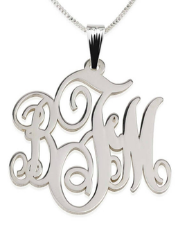 Classic Monogram Necklace Sterling Silver