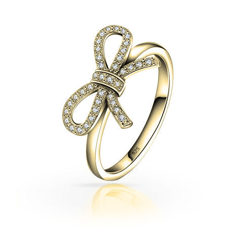 Bow Ring 24k Gold Plated