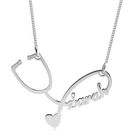 Stethoscope Necklace Sterling Silver