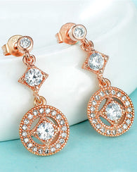 Zircon Vintage Allure Drop Earrings