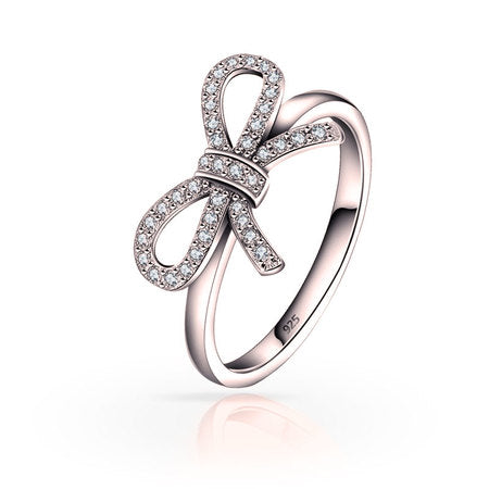 Bow Ring Rose Gold Plated