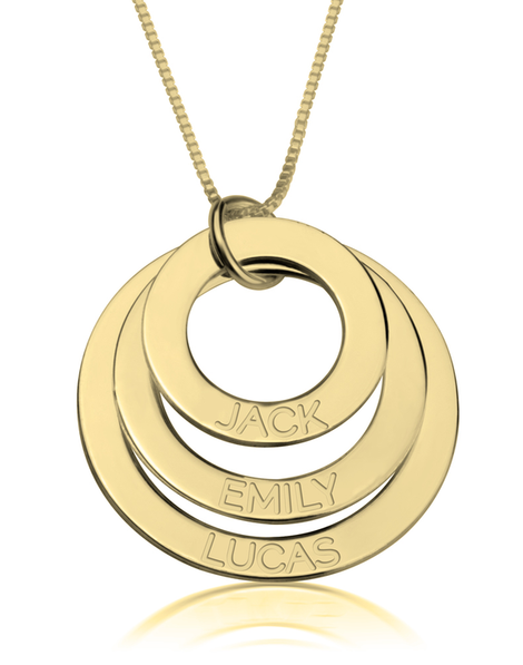 Engraved Mother Necklace - 14k Gold