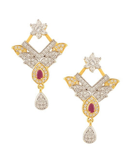 AD/CZ Designer Earring - Indian Fashion Jewellery Online