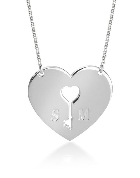 Key to My Heart Necklace - Sterling Silver