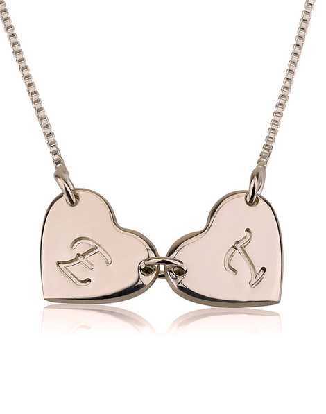 Linked Heart Necklace - Rose Gold Plated
