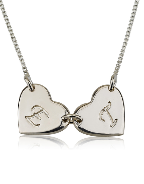Linked Hearts Necklace - Sterling Silver
