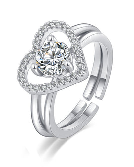 Love Open Ring Silver