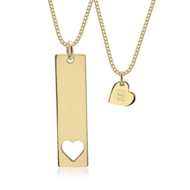 Mother and Daughter Necklace 24 k Gold Plated
