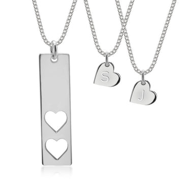 Mother and Daughter Necklace Sterling Silver