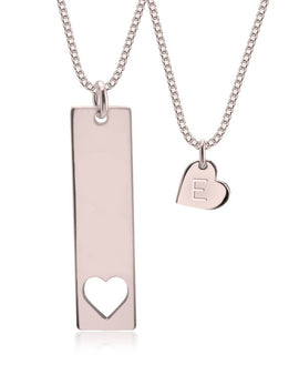 Mother and Daughter Necklace Rose Gold Plated