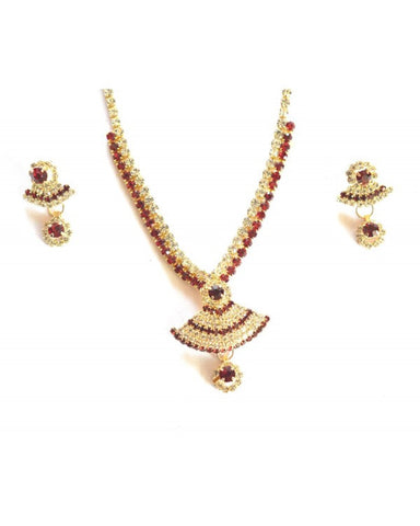Traditional Necklace Set - KN032 - Indian Fashion Jewellery Online