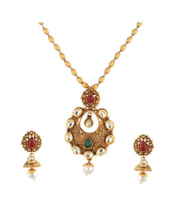 Designer Pendent Set - NOV196 - Indian Fashion Jewellery Online