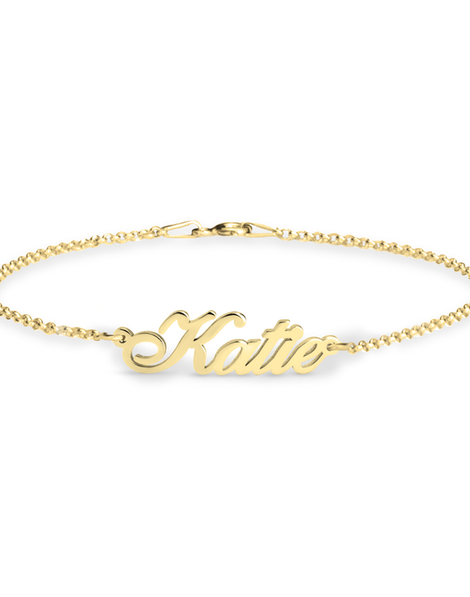 Personalised Name Bracelet - 24k Gold Plated