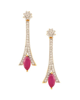 AD/CZ Earring - Indian Fashion Jewellery Online
