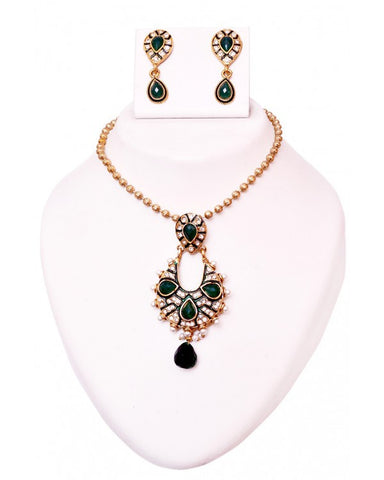 Nacho Necklace Set - RE110 - Indian Fashion Jewellery Online