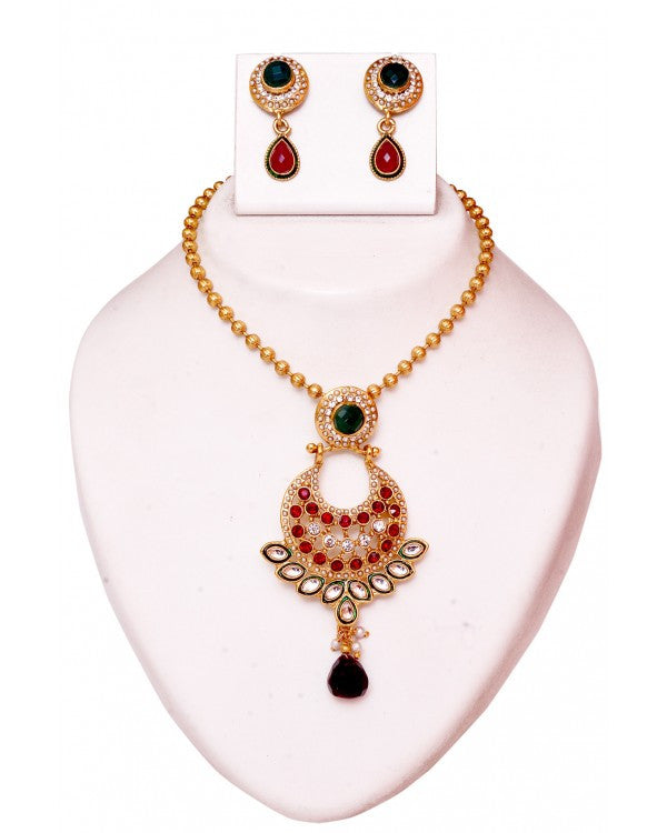 Pakistani Pendant Set - RE121 - Indian Fashion Jewellery Online