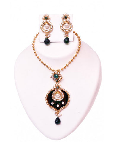 Designer Necklace Set - RE104 - Indian Fashion Jewellery Online