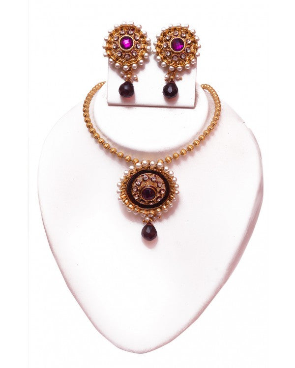 RE Necklace Set - RE095 - Indian Fashion Jewellery Online