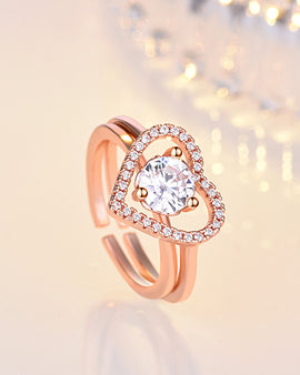 Love Open Ring Rose Gold