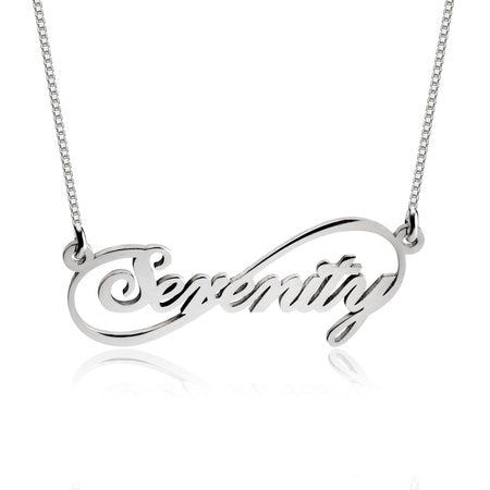 Personalised Infinity Name Necklace - Silver