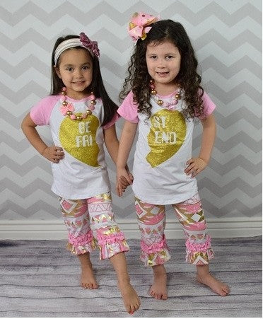 Best Friend Pink Aztec 2pc Set