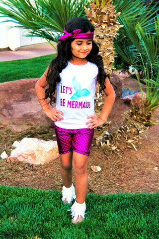 Lets Be Mermaids Short Set