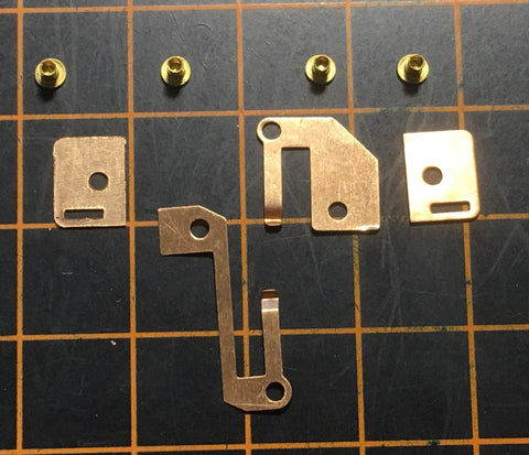 T-Dash chassis stampings and rivets - 5 sets, enough to restore 5 chassis